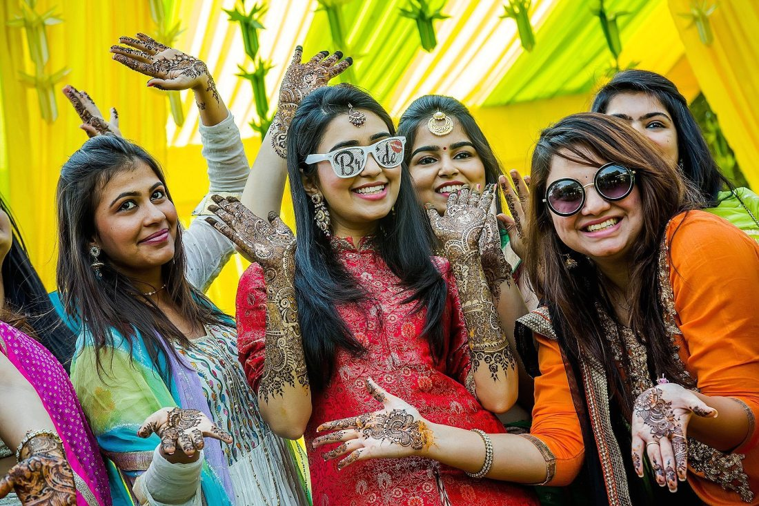 Vibrant Colorful Mehndi party