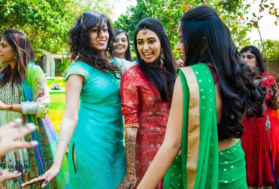 Vibrant and Colorful Mehndi party