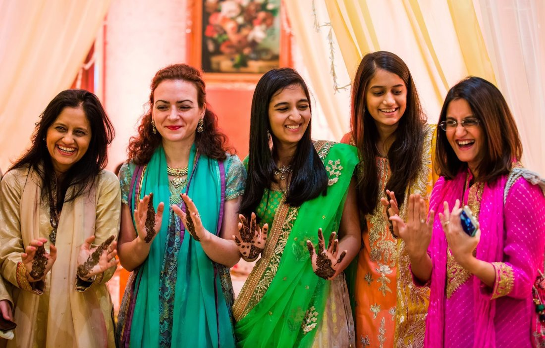 The wedding festivities started with the Mehendi ceremony at the Taj ...