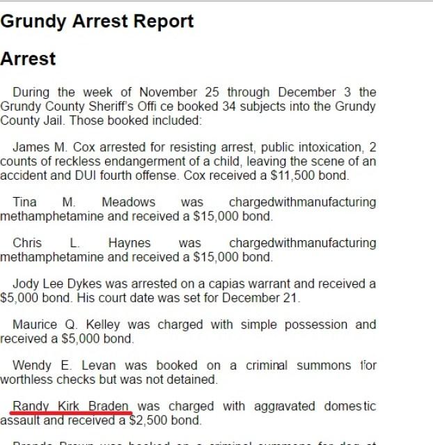 Kirk arrest