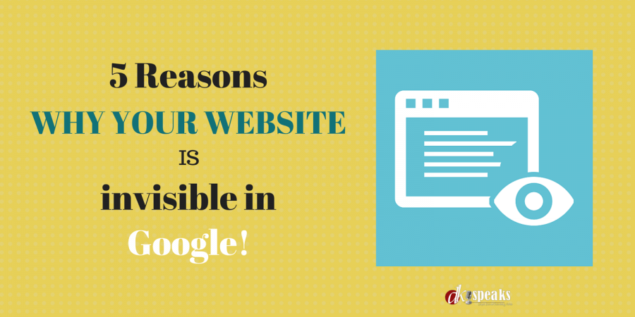 why your website is invisible in google