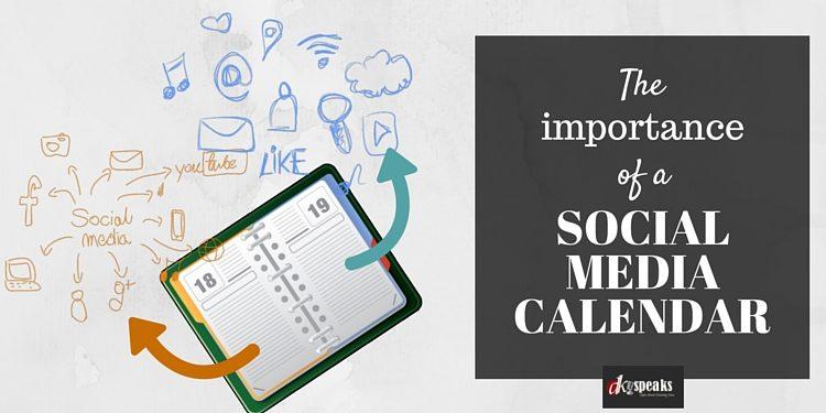 creating a social media calendar