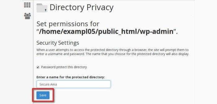 Safeguard WP Admin Directory