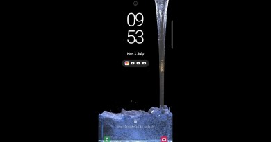 s10 water drop live wallpaper