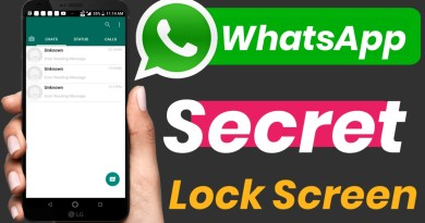 Whatsapp secret Lock Screen