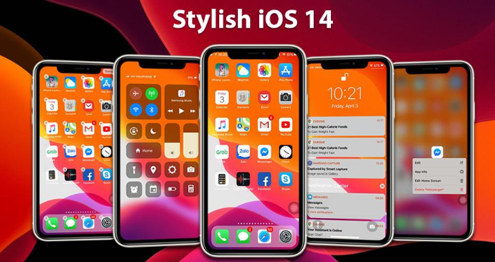 ios 14 launcher for your android phone