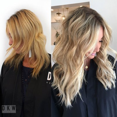 DKW Styling Natural Beaded Rows™ Before & After