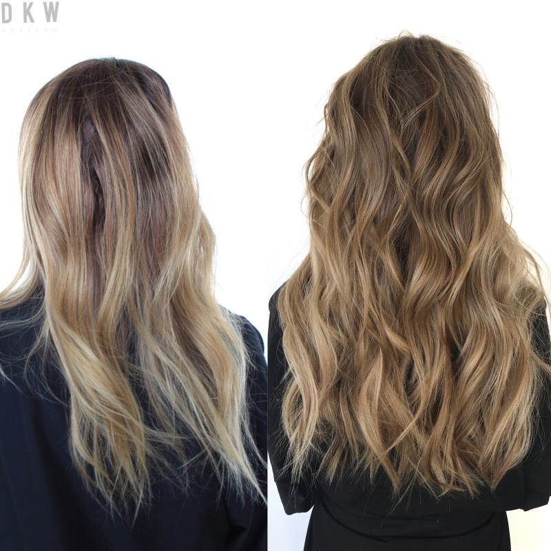 Natural Beaded Rows™ Before & After