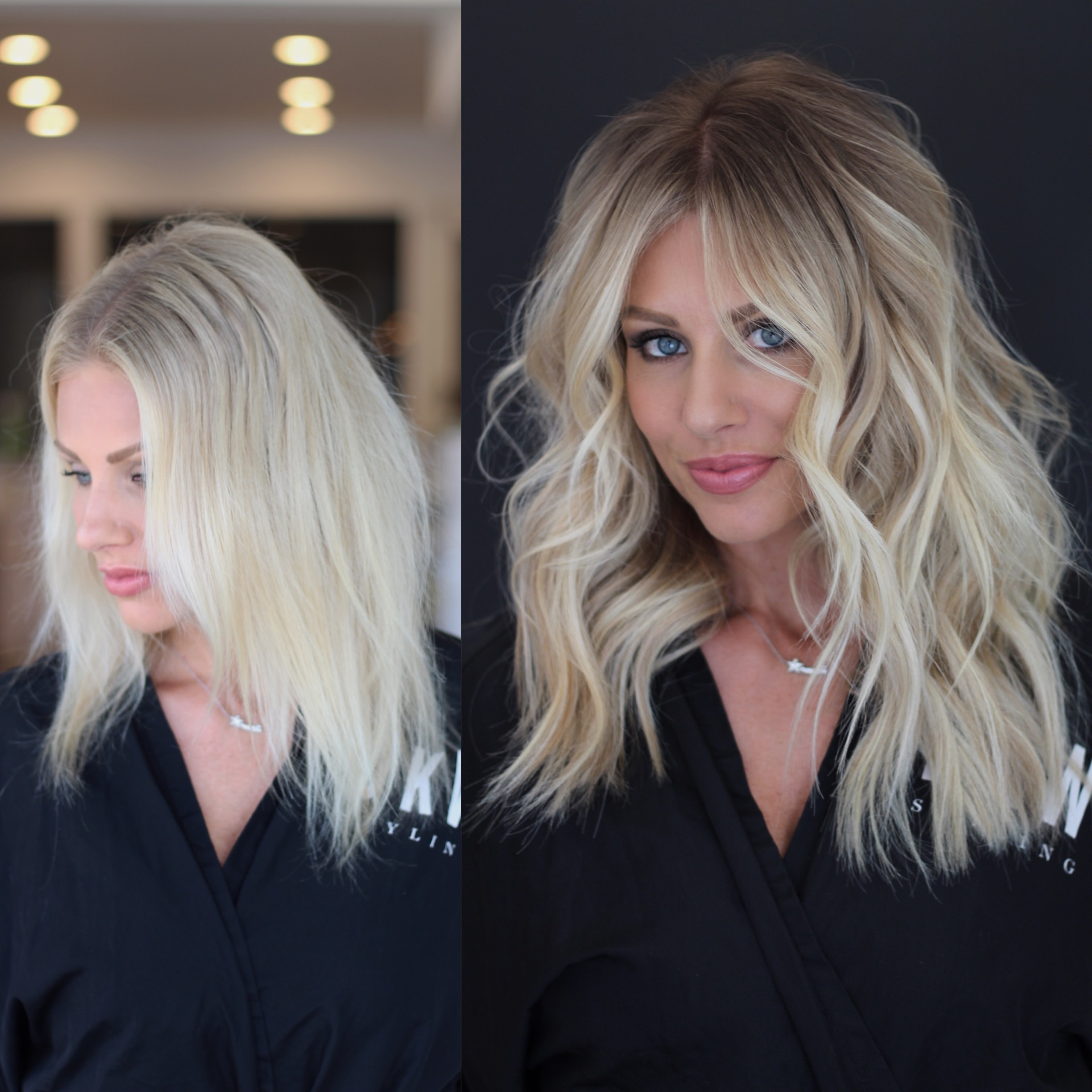 Hair Color Formulas - Natural Beaded Rows Before & After