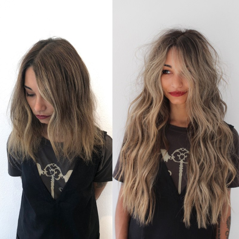 Natural Beaded Rows - Bronde by Val at DKW Styling