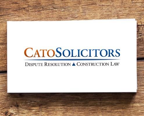 Cato Solicitors Graphic Design Artwork Print PDF Logo