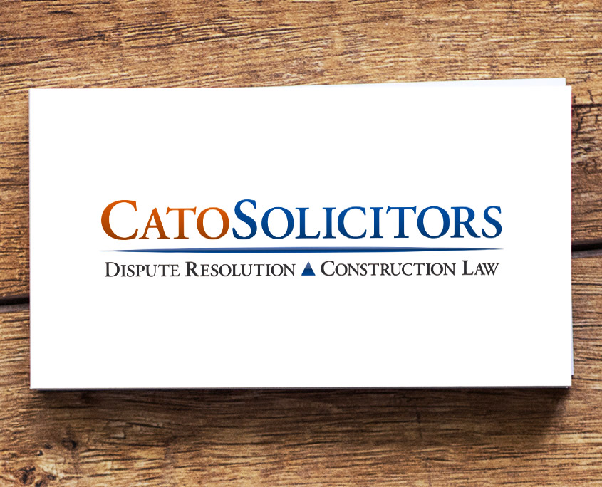 Cato Solicitors Graphic Design Artwork Print PDF Logo