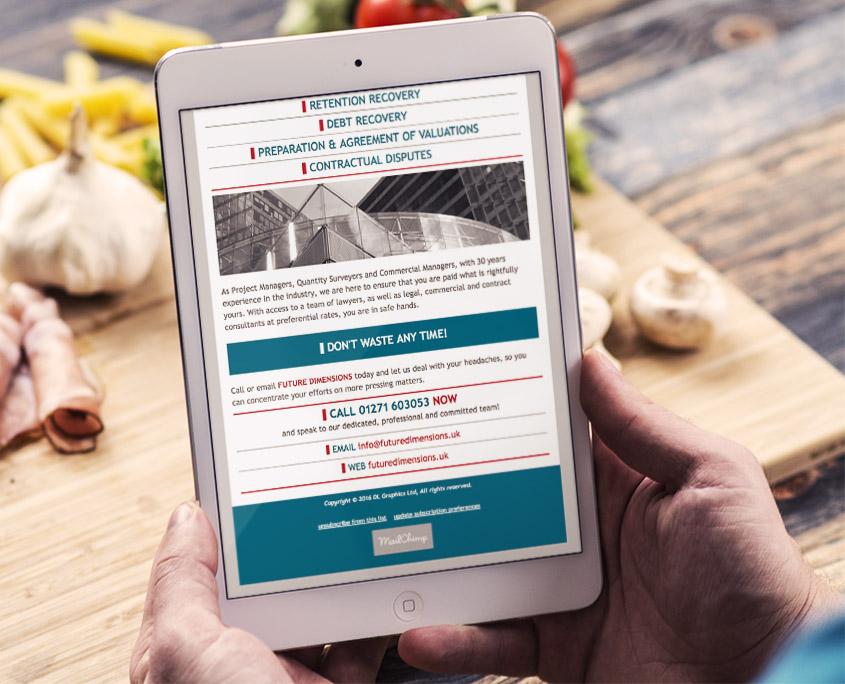Future Dimensions Graphic Design Email Campaign