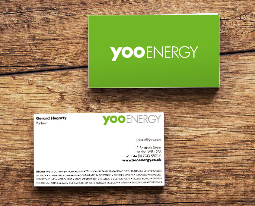 Yoo Energy Graphic Design Artwork Print PDF Business Card