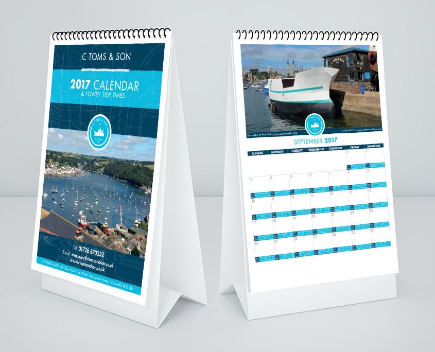 C Toms & Son Graphic Design Artwork Print PDF Calendar
