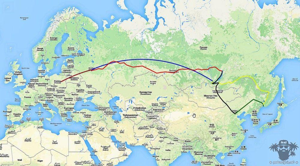 Transsib mapa