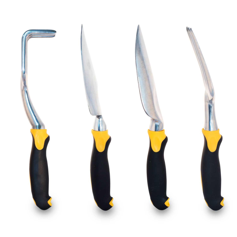 Gardenhome 4 Piece Steel Gardening Hand Tools Set With Ergonomic Handle Hr