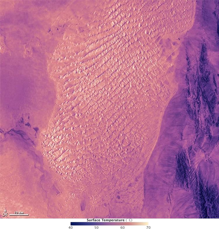 Podróż Życia, Iran, satelitarne ultrafioletowe zdjęcie pustyni Lut