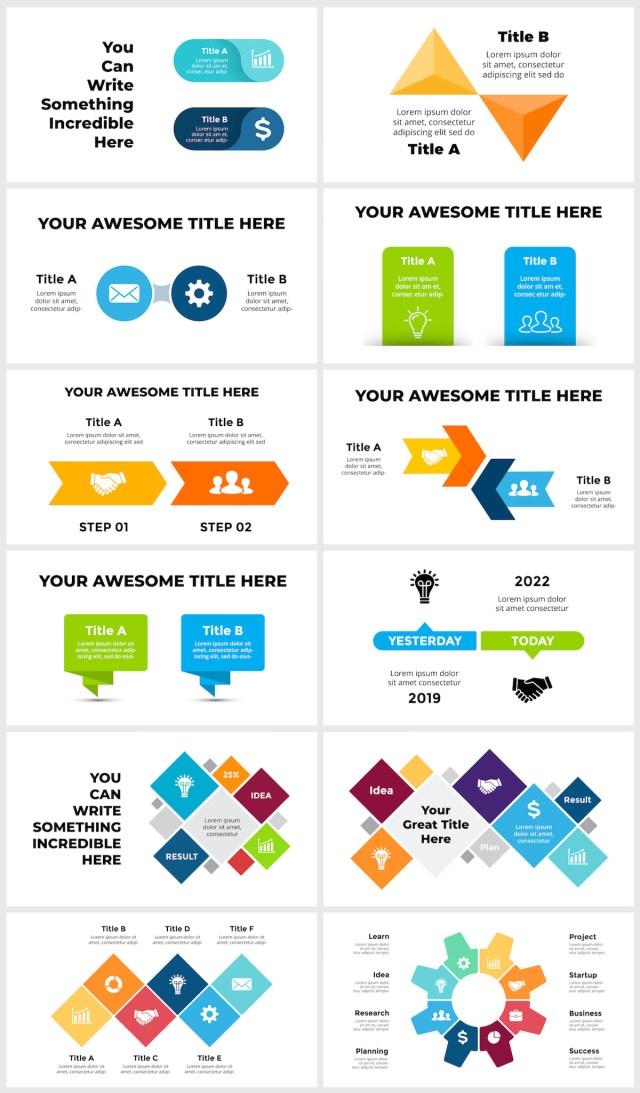 Huge Infographics Bundle! Lifetime Updates! PowerPoint, Photoshop, Illustrator. - 64