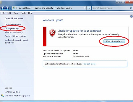 Turn Automatic Updating on or off Windows 7 or Windows XP