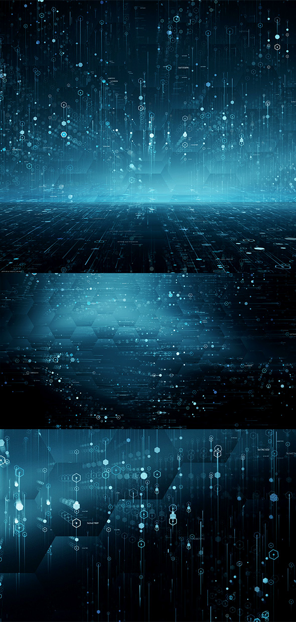 Hi-Tech Data Backgrounds (4-Pack) - 1