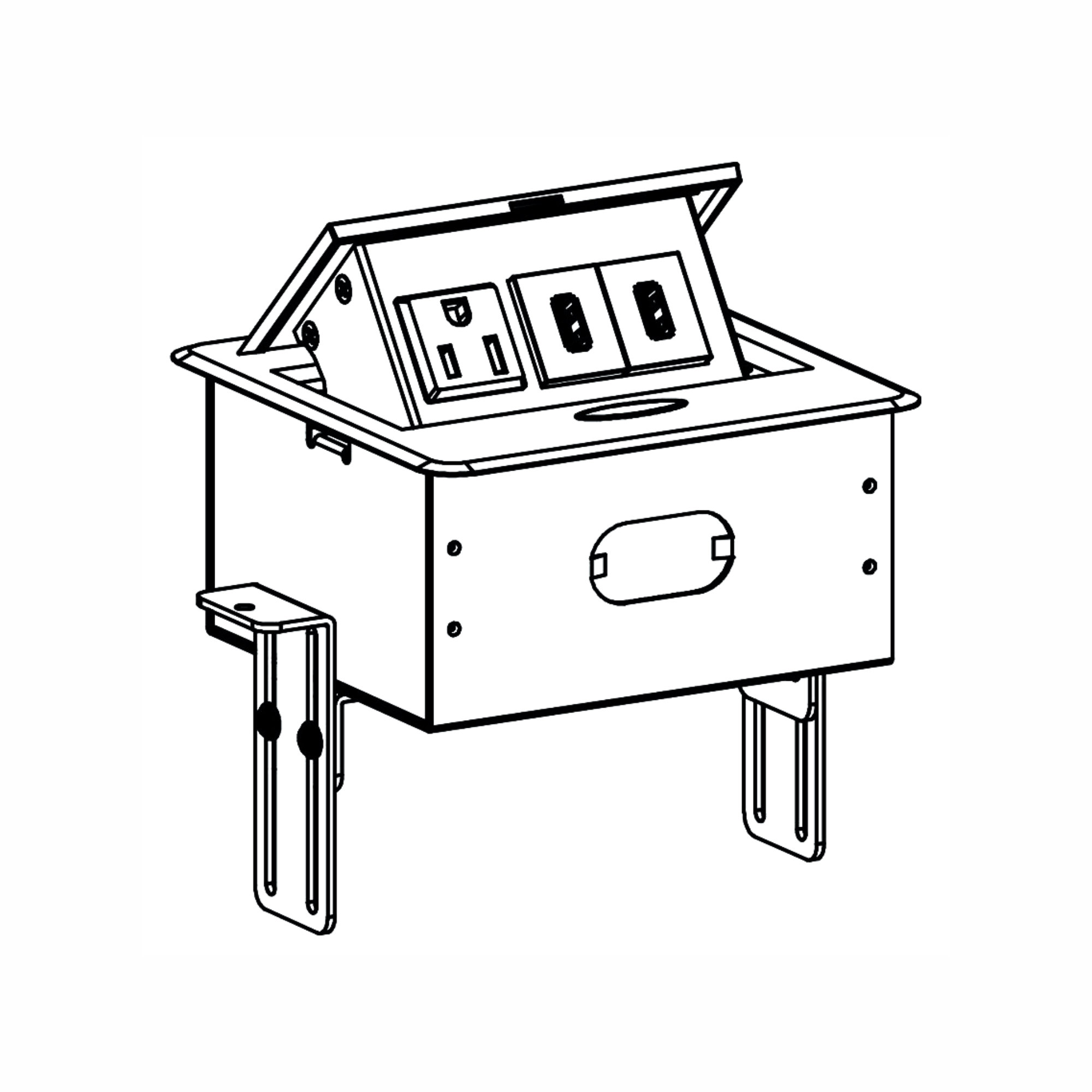 Rok Ac Receptacle Plug Port Pop Up Counter Desk Table