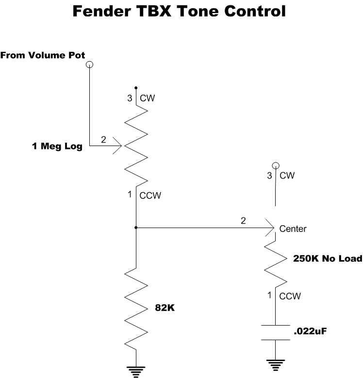 Modified TBX Tone Control  Phostenix Wiring Diagrams