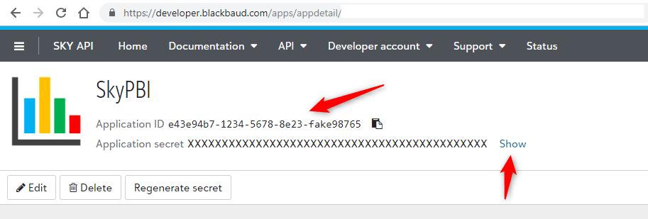 client_id = Application ID, client_secret = Application secret