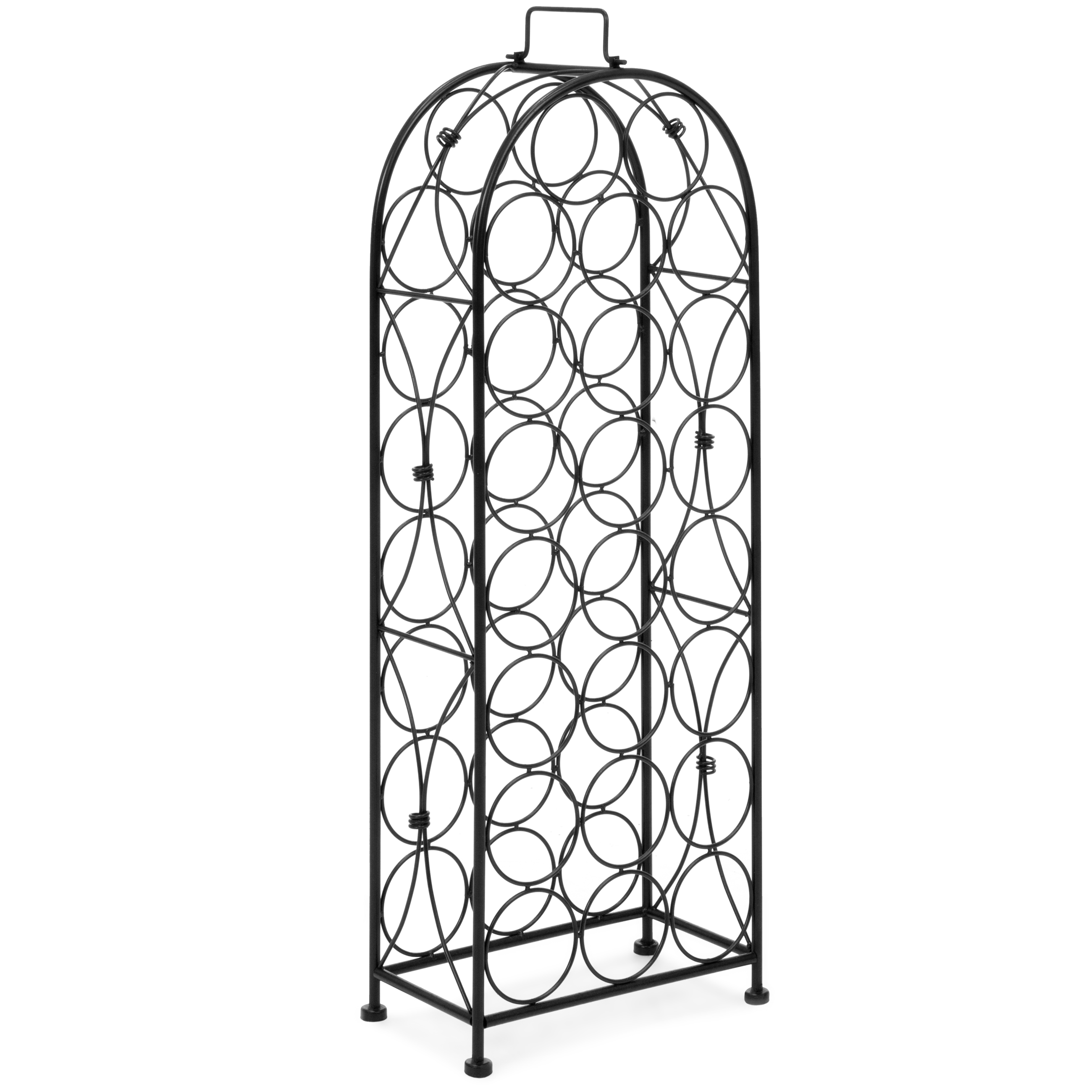 Best Choice Products 23 Bottle Metal Wine Rack Stand