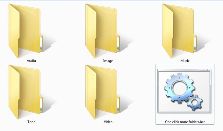 How to get more folders by only single click?