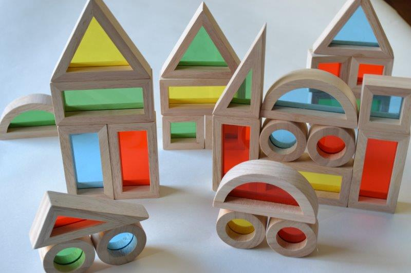 Guidecrafts's Junior Rainbow Building blocks- For exploration and visual stimulation in Children
