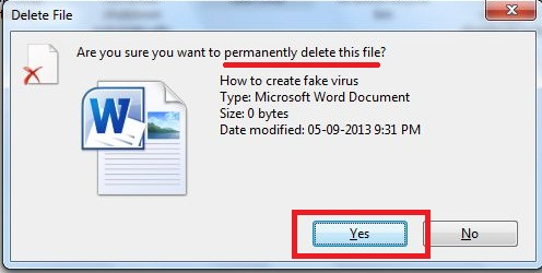 How to delete file to avoid recycle bin?