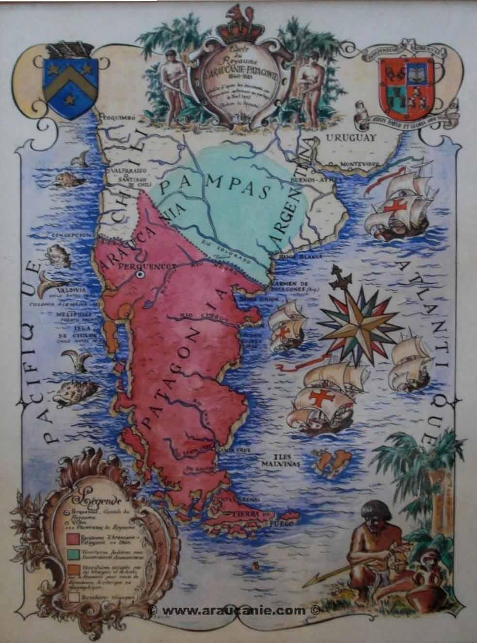 Mapa Araucania