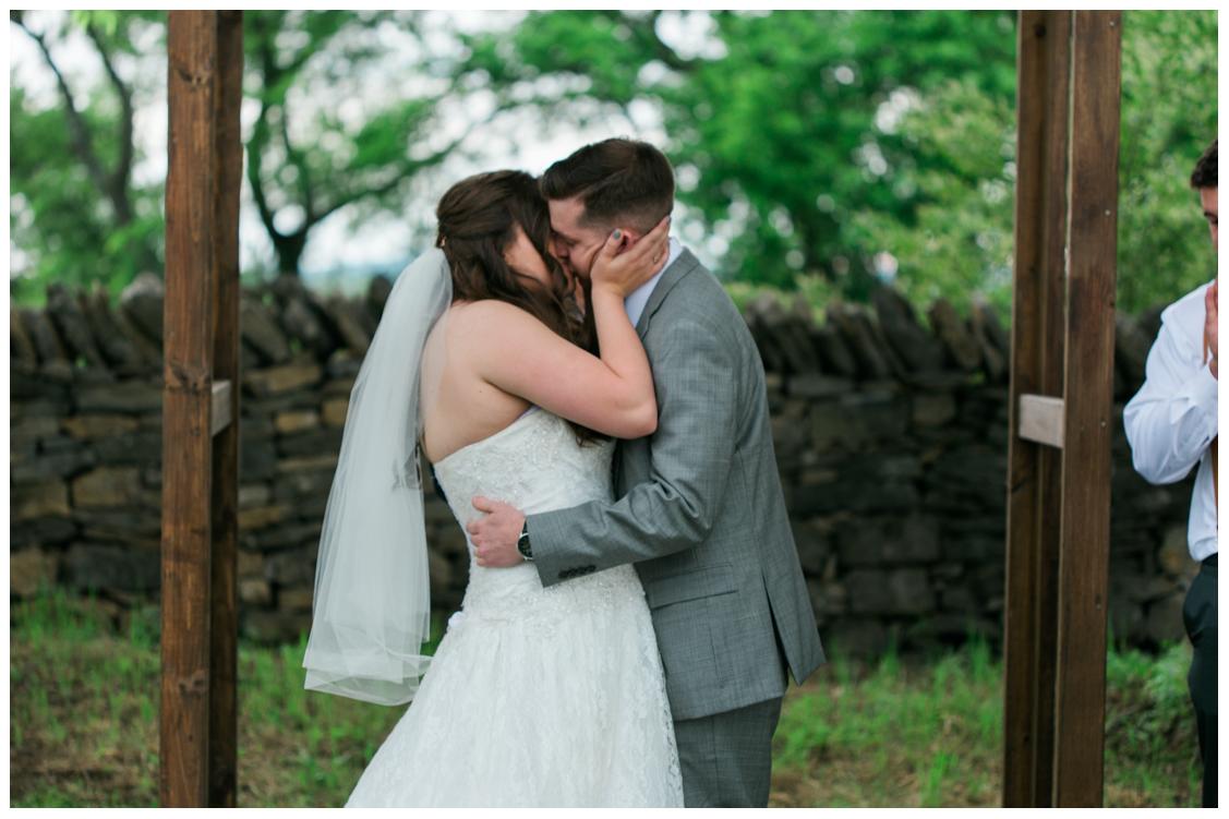 Sarah and Chris Kiss