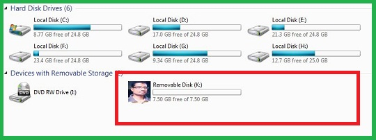 How to change pen drive icon with own picture?