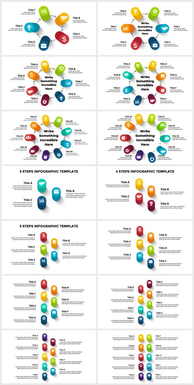 Huge Infographics Bundle! Lifetime Updates! PowerPoint, Photoshop, Illustrator. - 74