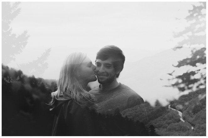 creative-multiple-exposure-picture-charlies-bunion-engagement-Jill and Daniel