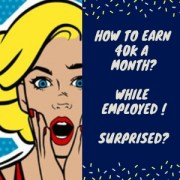 How To Earn 40k A Month While Having A Full-Time Job.