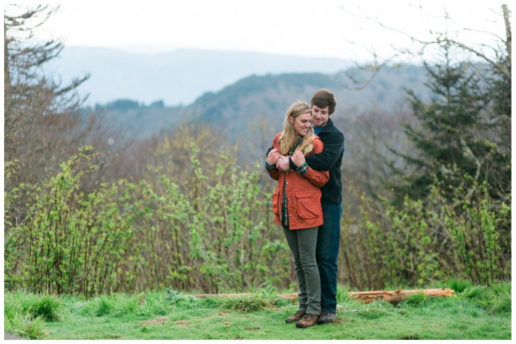 open-field-on-the-smokey-mountains-charlies-bunion-engagement-Jill and Daniel