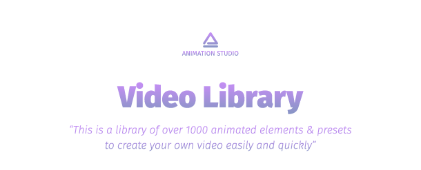 VIDEOHIVE VIDEO LIBRARY - VIDEO PRESETS PACKAGE - Free After Effects