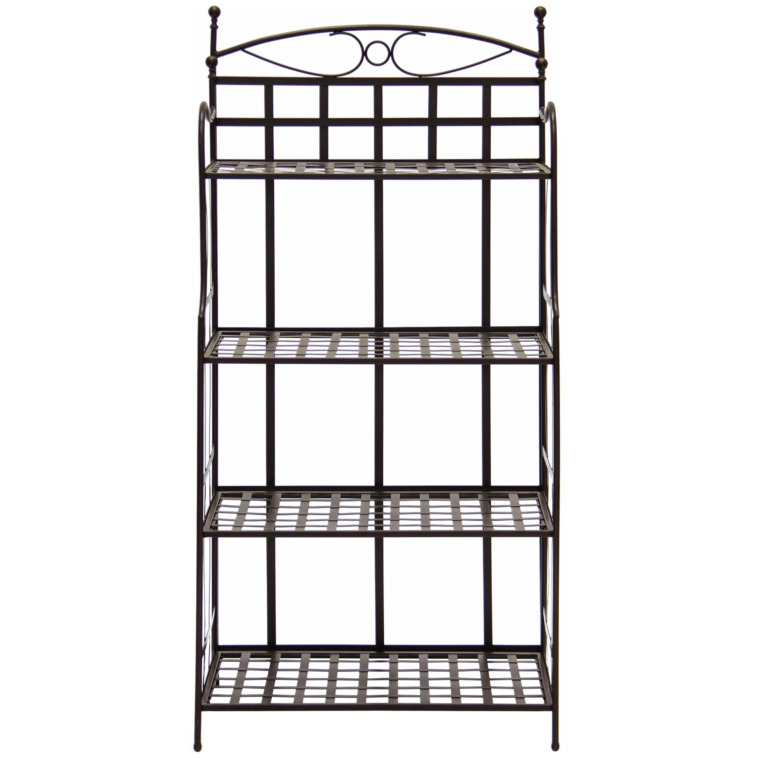 Best Choice Products 4 Tier Indoor Outdoor Bakers Rack
