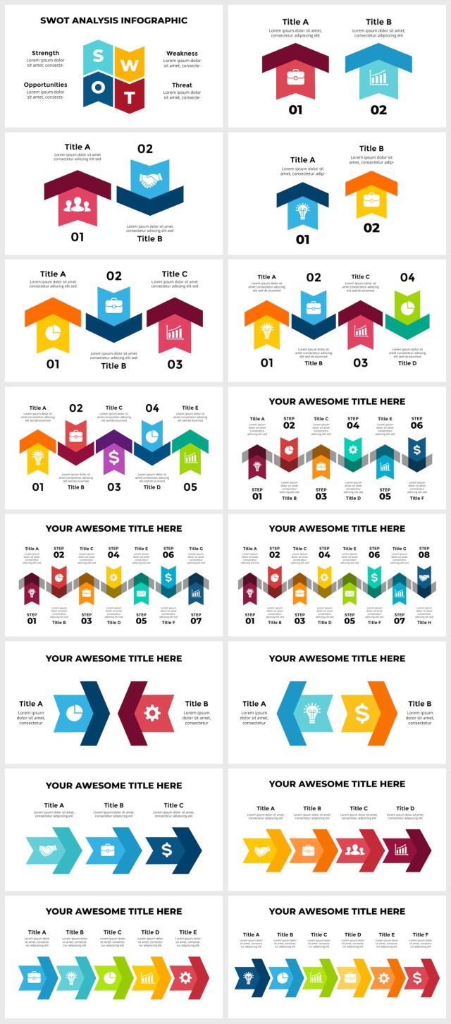 Huge Infographics Bundle! Lifetime Updates! PowerPoint, Photoshop, Illustrator. - 244
