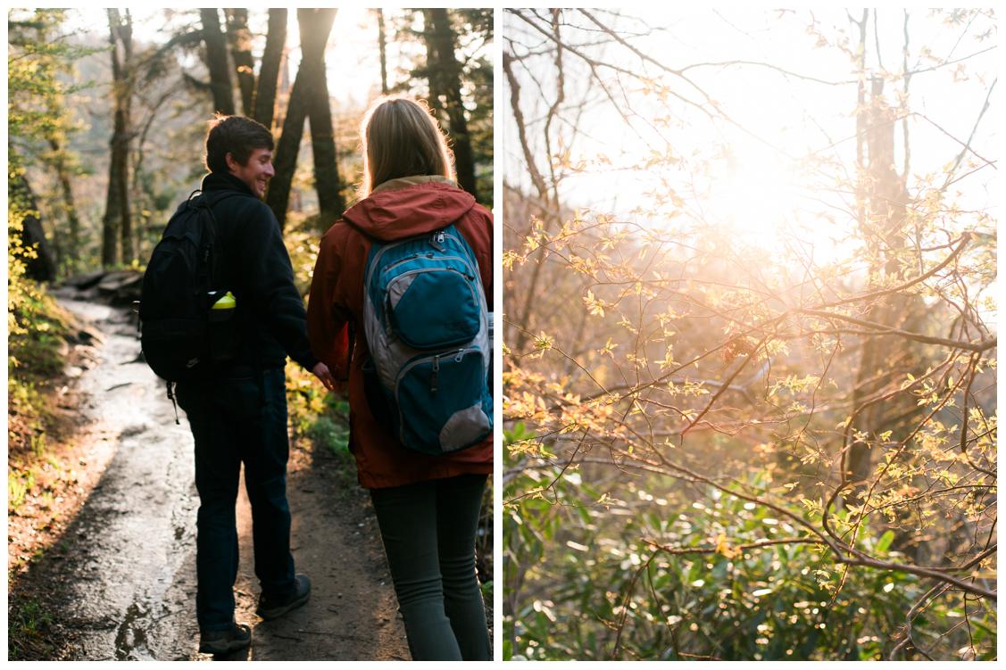 Appalachian-Trail-to-Charlies-Bunion-Engagement Jill and Daniel