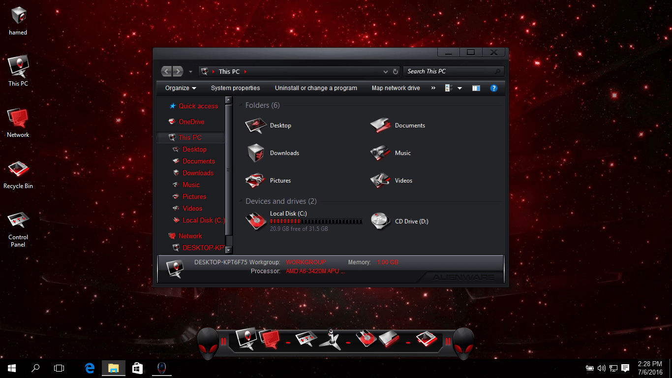alienware themes for windows 8 64 bit free download