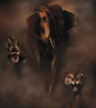 elephant-tiger-dinosaur