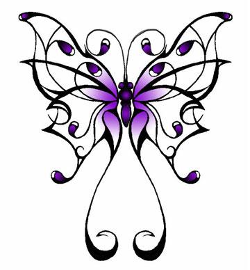 beautiful tribal butterfly tattoo designs