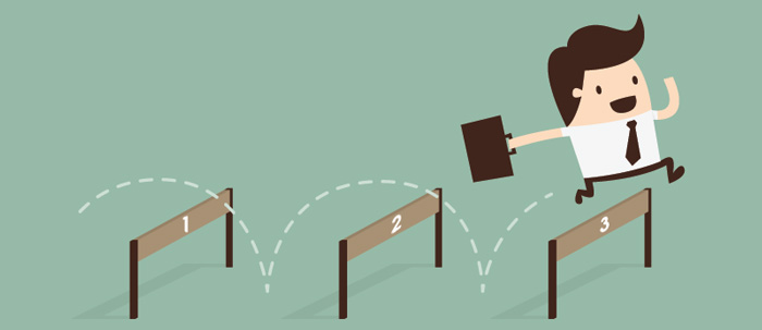 Jumping over the three hurdles to being assertive.