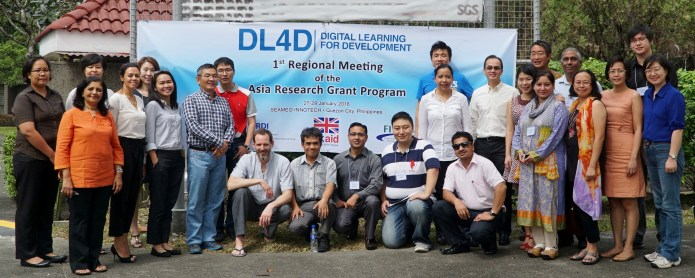 Participants of the DL4D First Regional Meeting (January 27 to 29, Manila) consisted of researchers of different academic institutions from China, Hong Kong, Indonesia, Nepal, Pakistan, the Philippines, Singapore and Sri Lanka.