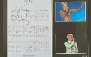 David Bowie Blue Jean signed sheet music to be auctioned