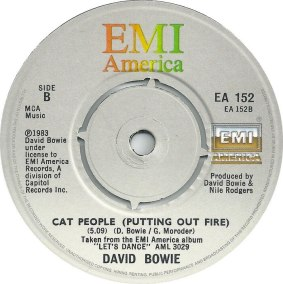 Let's Dance by David Bowie 1983 UK single A-side label